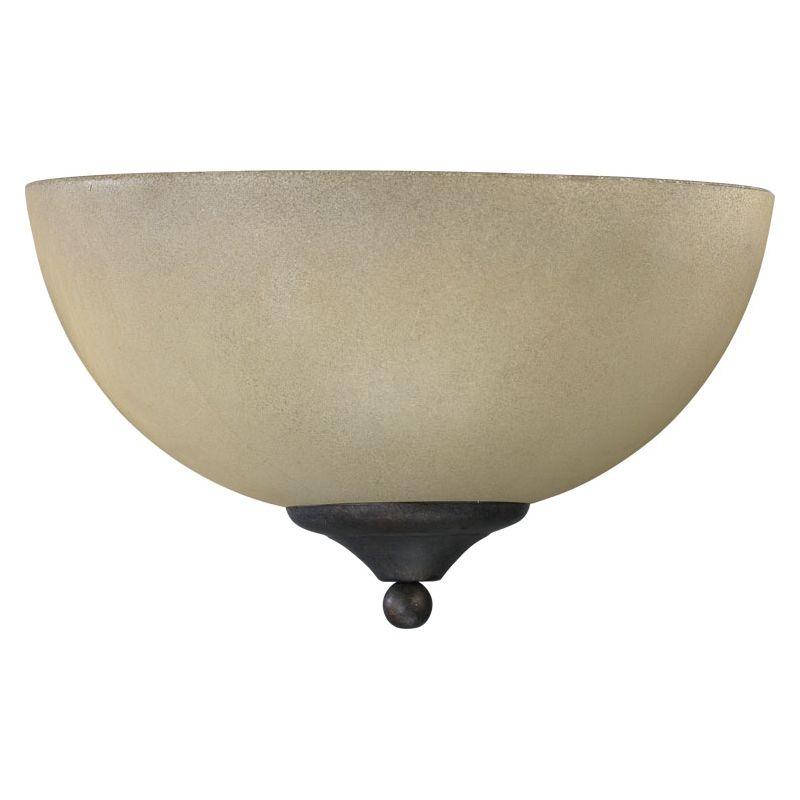 Quorum International 625-11 Hemisphere 1 Light Bathroom Sconce Toasted