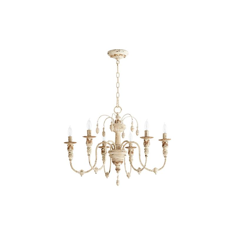 Quorum International 6316-6 Salento 6 Light 1 Tier Chandelier Persian