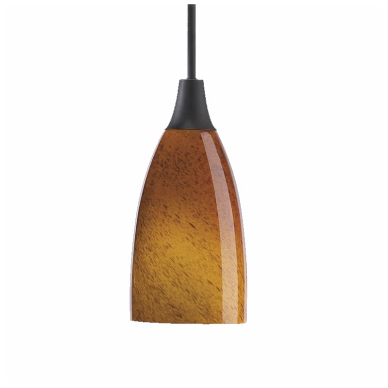 Quorum International Q6368 1 Light Mini Pendant with Glass Bell Shade