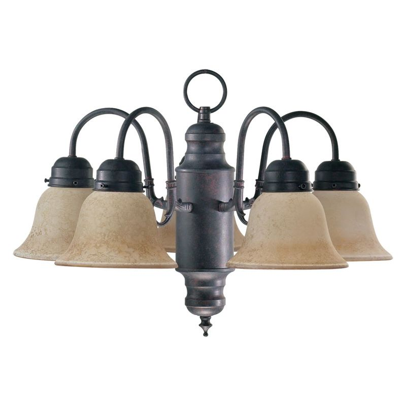 Quorum International Q6426-5 5 Light 1 Tier Chandelier with Bell