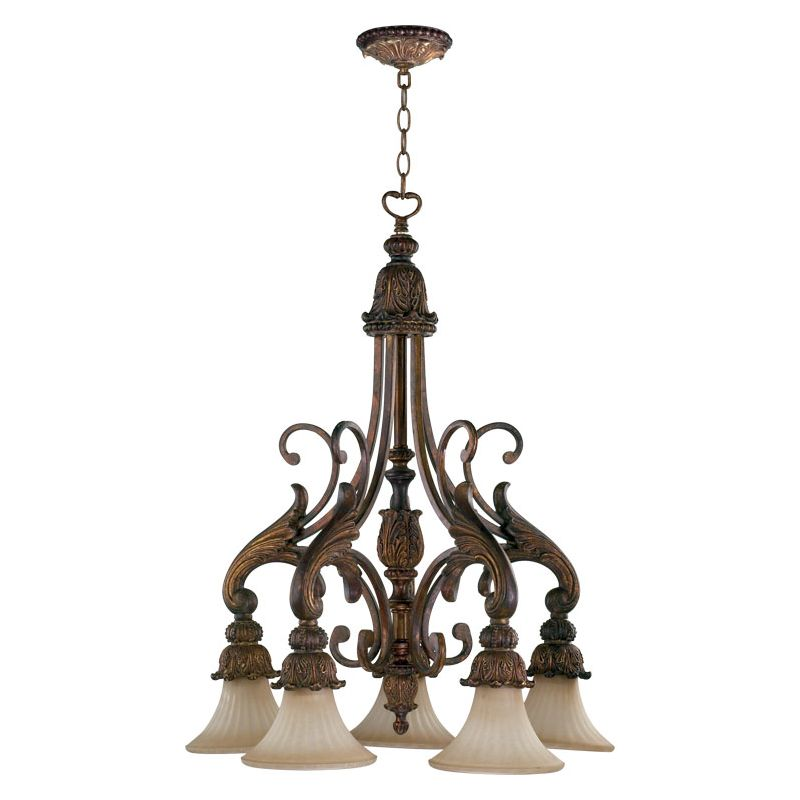 Quorum International Q6430-5 5 Light Down Lighting Chandelier from the