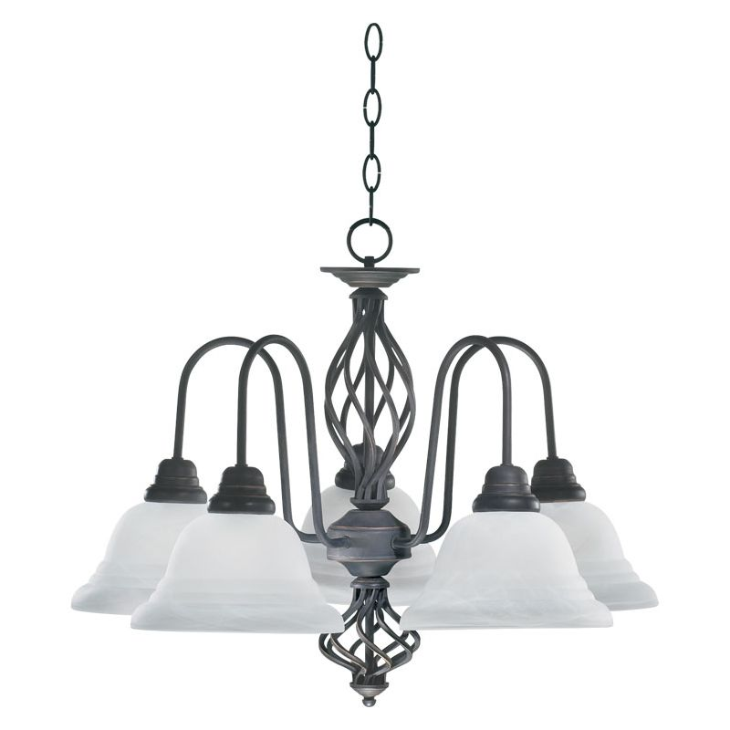 Quorum International Q6454-5 Chandeliers 5 Light 1 Tier Chandelier Old Sale $116.00 ITEM: bci367011 ID#:6454-5-95 :