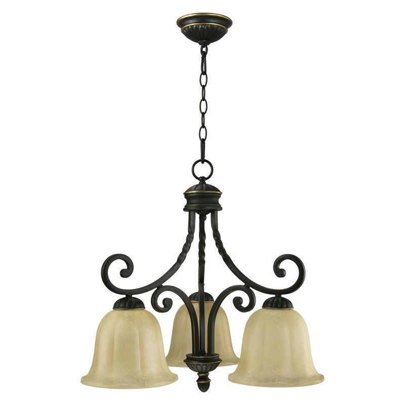 Quorum International 6478-3 Tribeca II 3 Light 1 Tier Chandelier Old