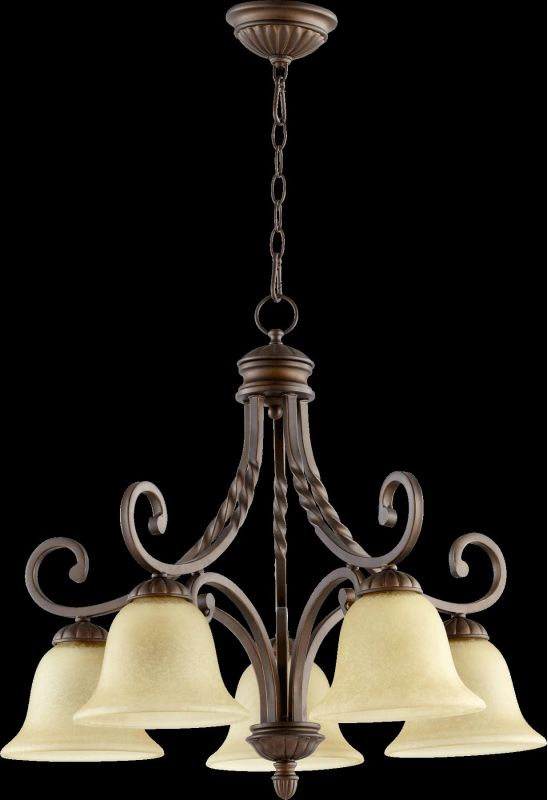 Quorum International 6478-5 Tribeca II 5 Light 1 Tier Chandelier Oiled