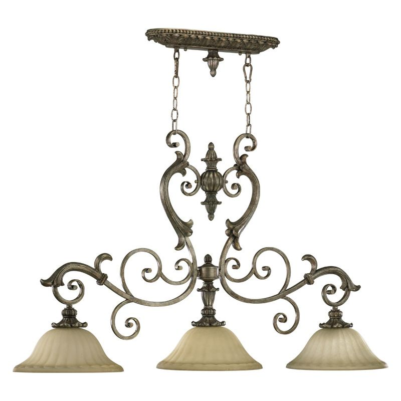 Quorum International 6500-3-58 Mystic Silver Three Light
