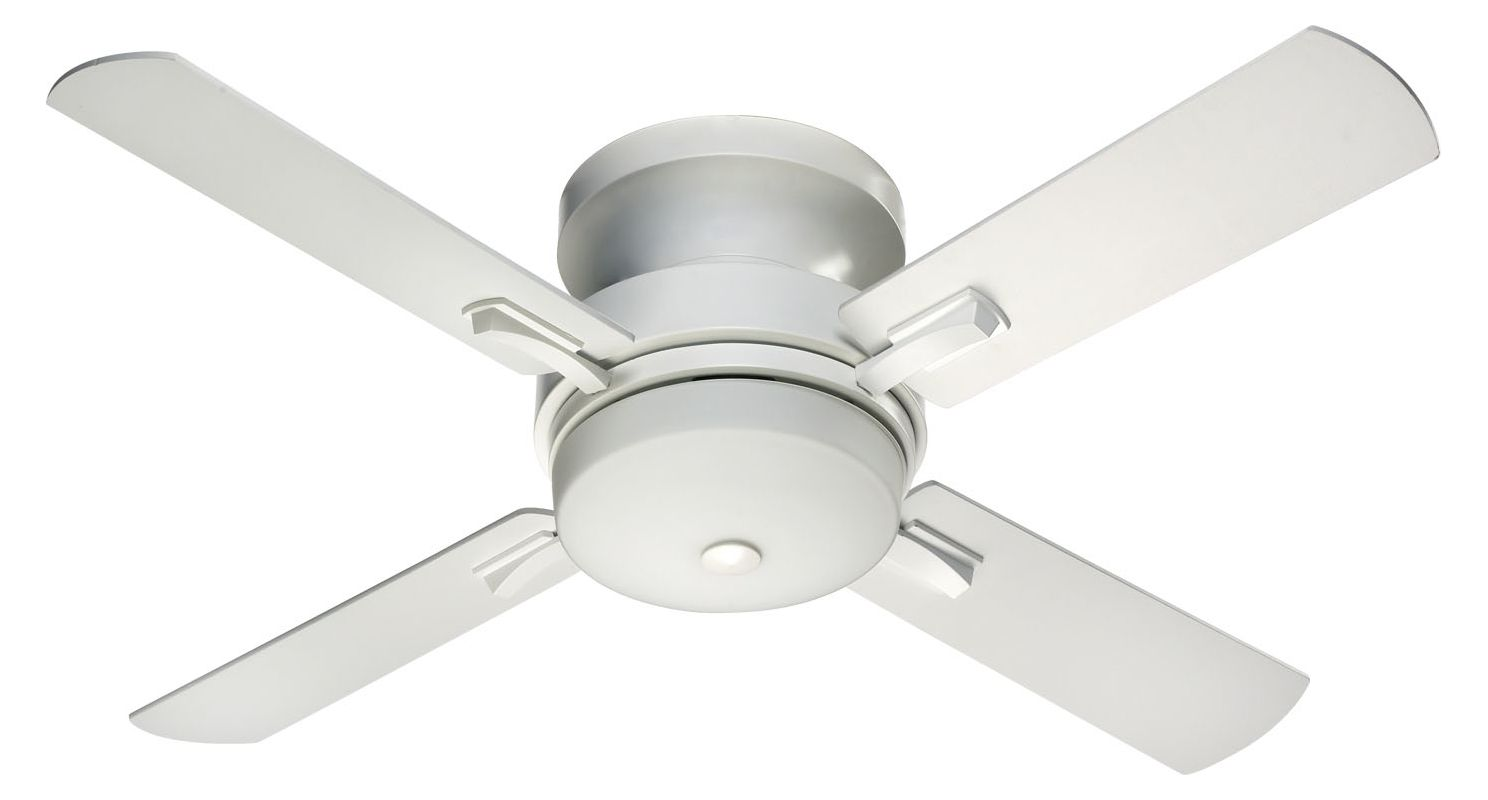 "Quorum International 65524 52"" Wide 4 Blade Ceiling Fan Studio White"