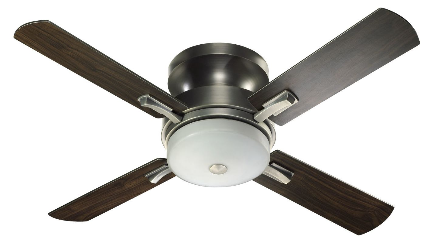 "Quorum International 65524 52"" Wide 4 Blade Ceiling Fan Antique Silver"