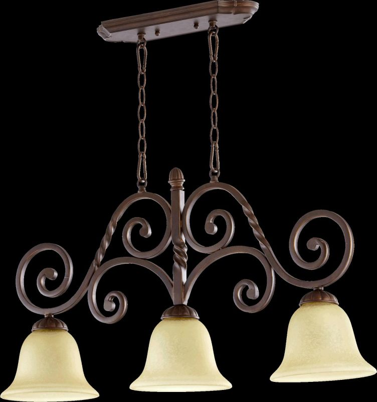 Quorum International 6578-3 Tribeca II 3 Light Linear Chandelier Oiled