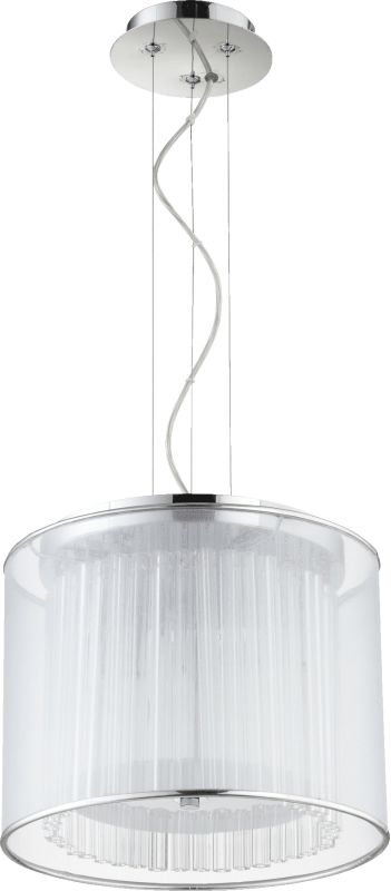Quorum International 660-2 Modena 2 Light Drum Pendant Chrome Indoor