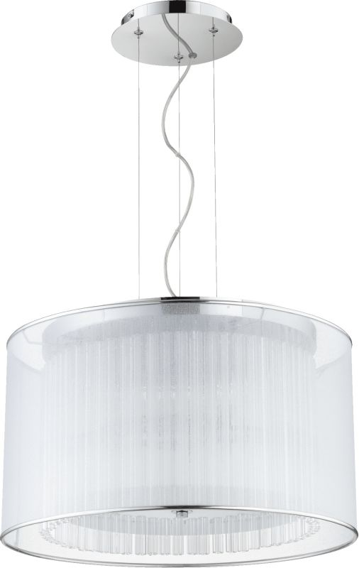 Quorum International 660-3 Modena 3 Light Drum Pendant Chrome Indoor