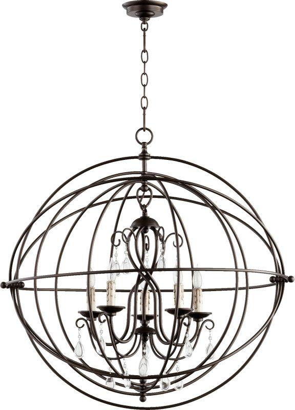 Quorum International 6716-5 Cilia 5 Light 1 Tier Globe Chandelier