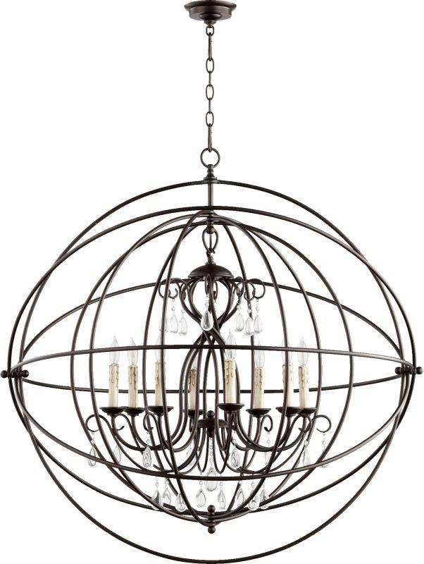 Quorum International 6716-8 Cilia 8 Light 1 Tier Globe Chandelier