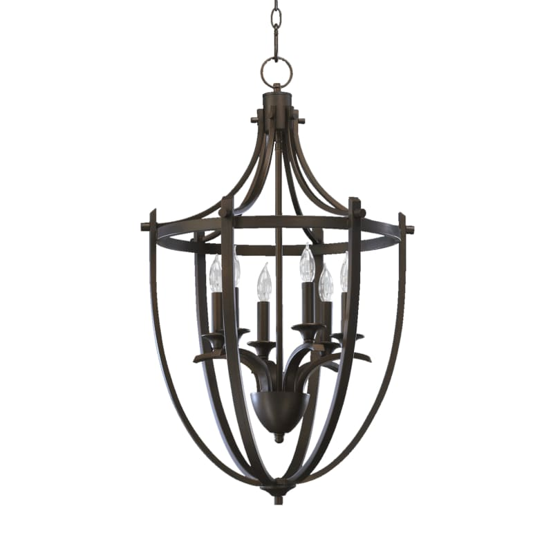 Quorum International 6729-6-86 Oiled Bronze 6 Light Entry