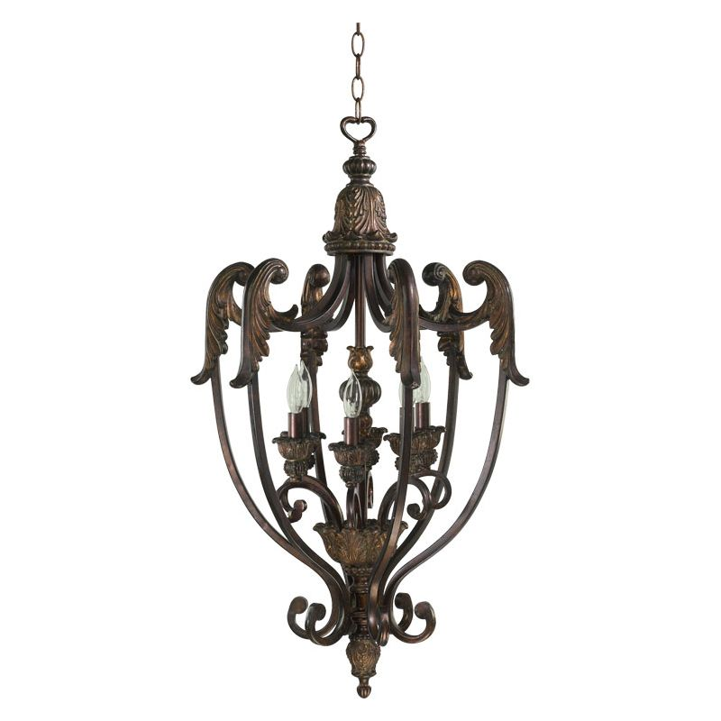 Quorum International Q6730-6 Six Light Foyer Pendant from the Sale $472.00 ITEM: bci367108 ID#:6730-6-88 :