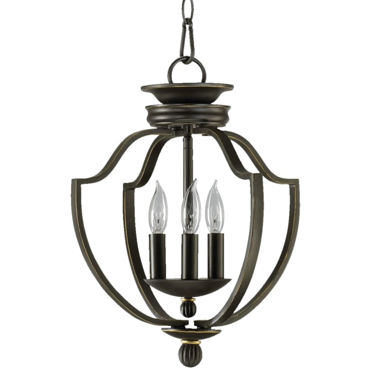 Quorum International 6772-3-95 Old World Three Light Foyer