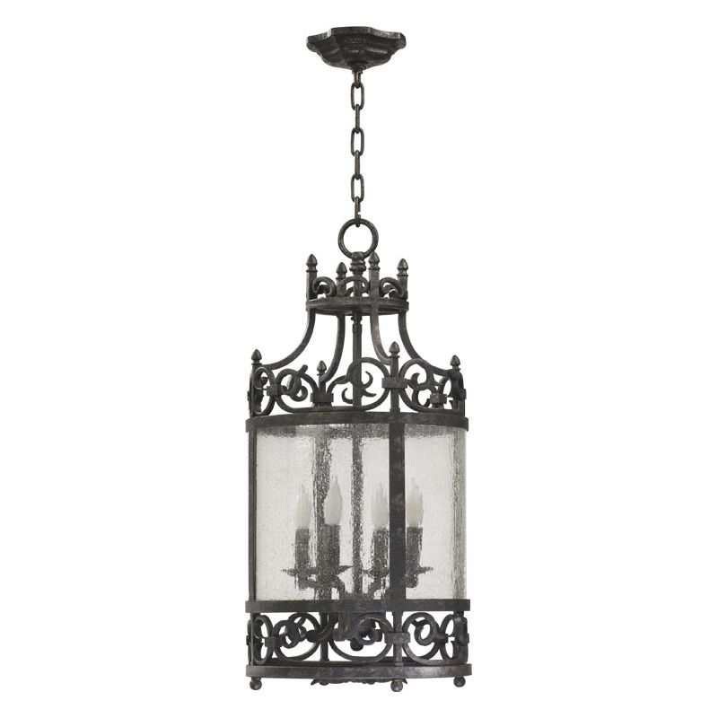 Quorum International 6793-4 4 Light Entry Fixture with Water Glass