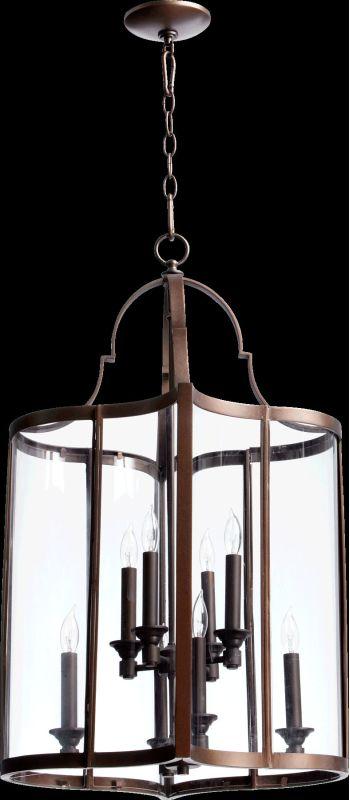 Quorum International 6804-8 Kaufmann 8 Light Pendant Oiled Bronze