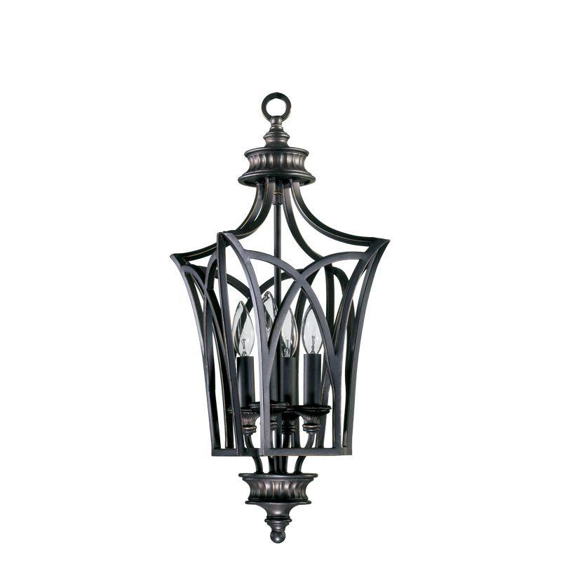 Wrought Iron Foyer Lighting : Quorum international  old world wrought iron four