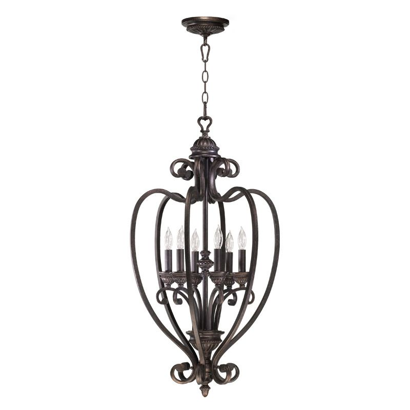 Quorum International 6826-6 6 Light Foyer Pendant from the Summerset Sale $442.00 ITEM: bci730412 ID#:6826-6-44 :