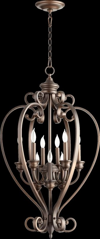 "Quorum International 6854-9 Randolph 9 Light 20"" Foyer Pendant Oiled"