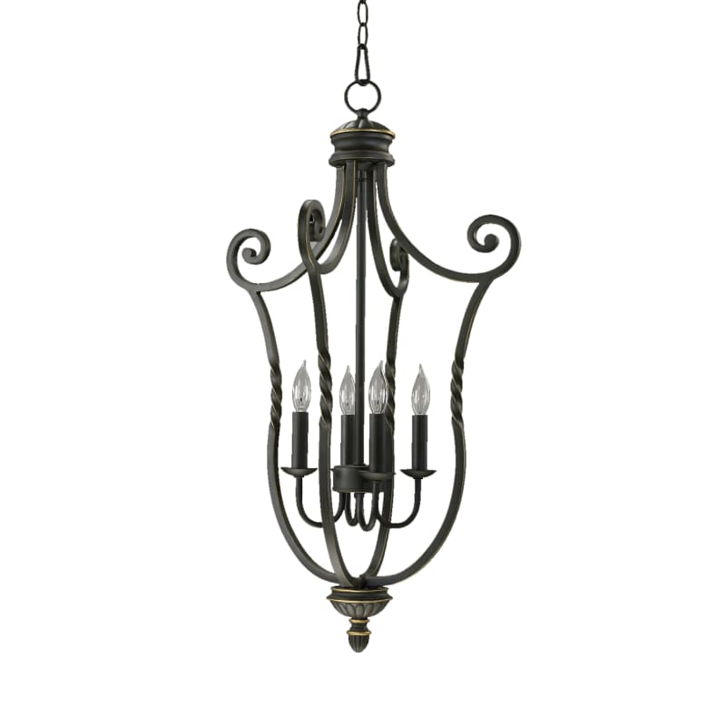 "Quorum International 6878-4 Tribeca II 31"" Height 4 Light Pendant Old"