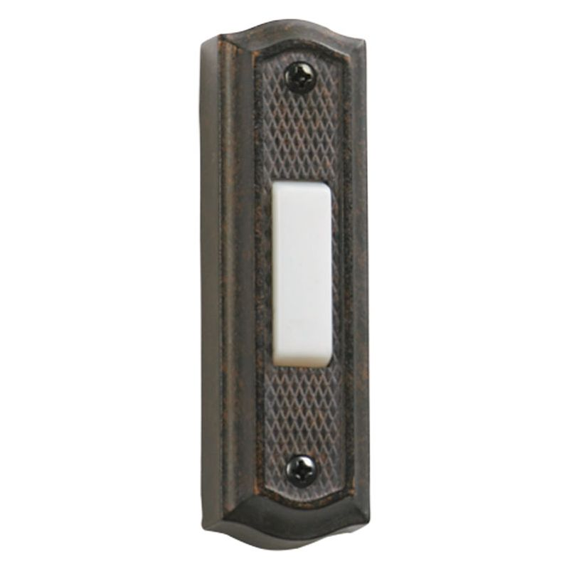 "Quorum International 7-301 3.5"" x 1"" Zinc Door Chime Button Toasted"