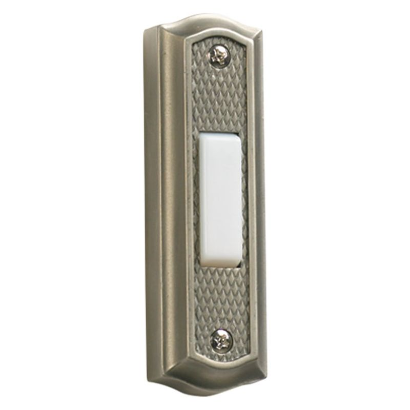 "Quorum International 7-301 3.5"" x 1"" Zinc Door Chime Button Antique"