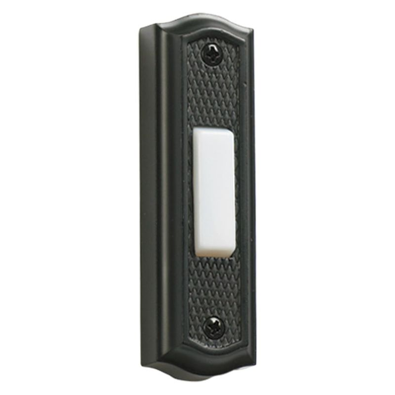 "Quorum International 7-301 3.5"" x 1"" Zinc Door Chime Button Old World"
