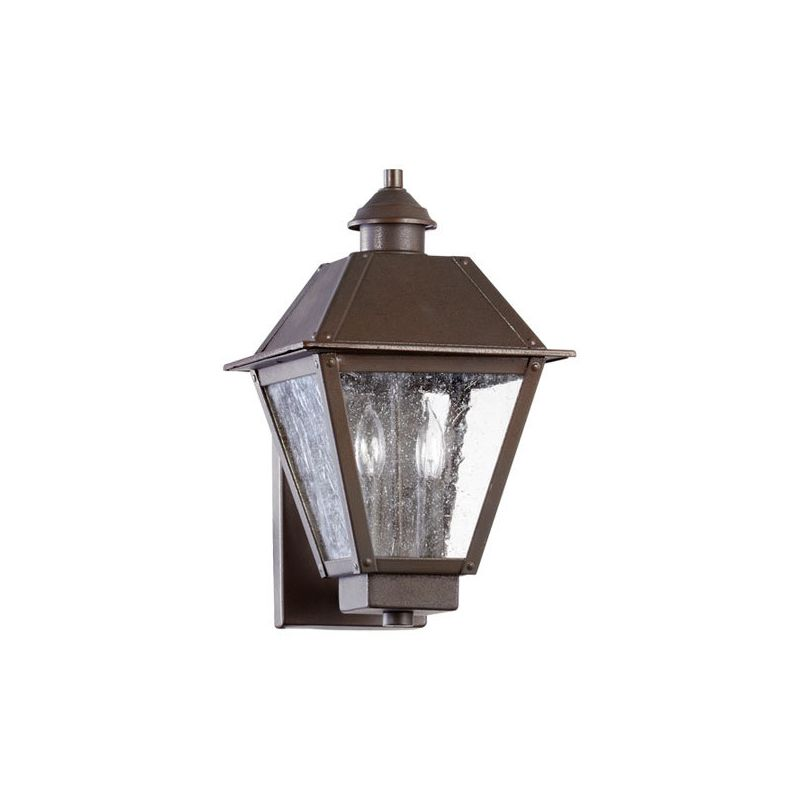 Quorum International 7024-2 Emile 2 Light Outdoor Wall Sconce Oiled