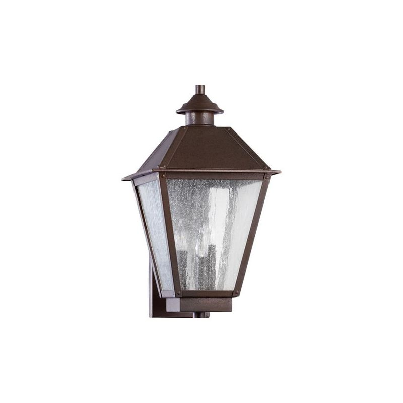 Quorum International 7024-3 Emile 3 Light Outdoor Wall Sconce Oiled