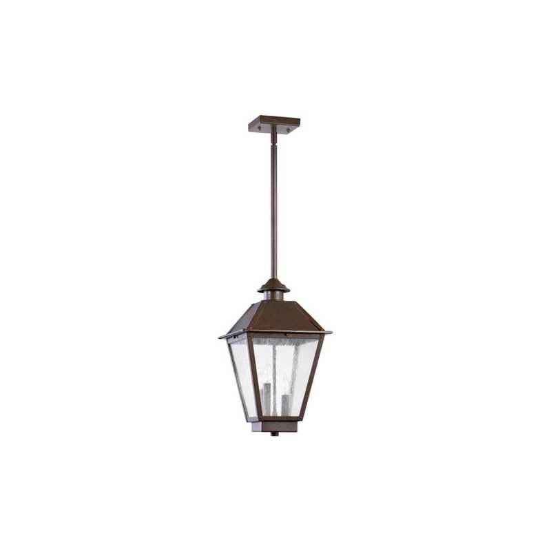 Quorum International 7025-3 Emile 3 Light Outdoor Pendant Oiled Bronze