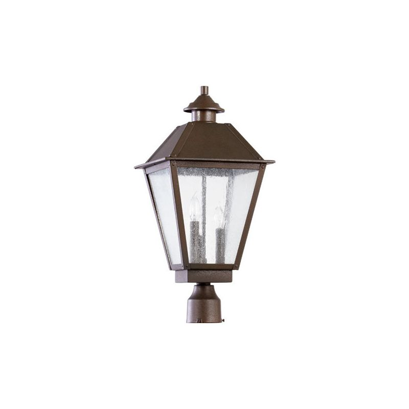 Quorum International 7026-3 Emile 3 Light Outdoor Post Light Oiled