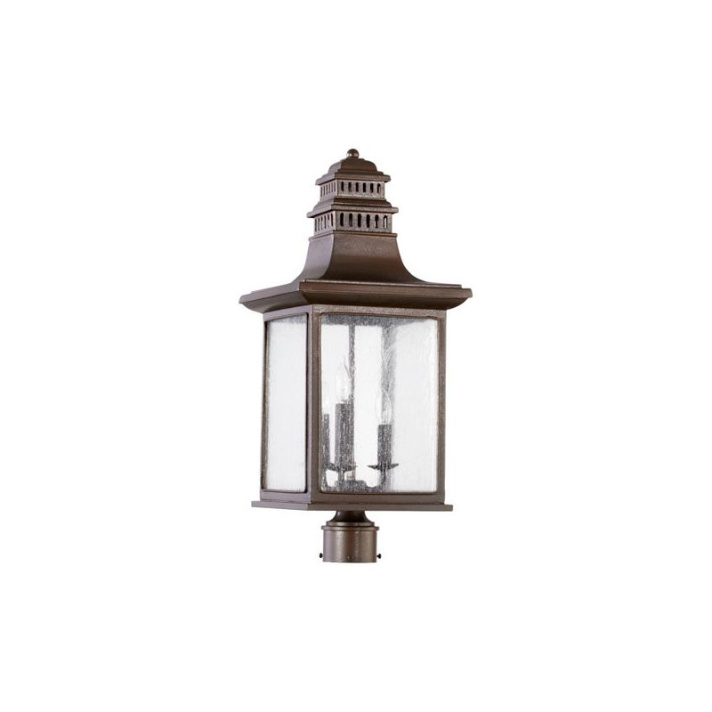 Quorum International 7046-3 Magnolia 3 Light Outdoor Post Light Oiled