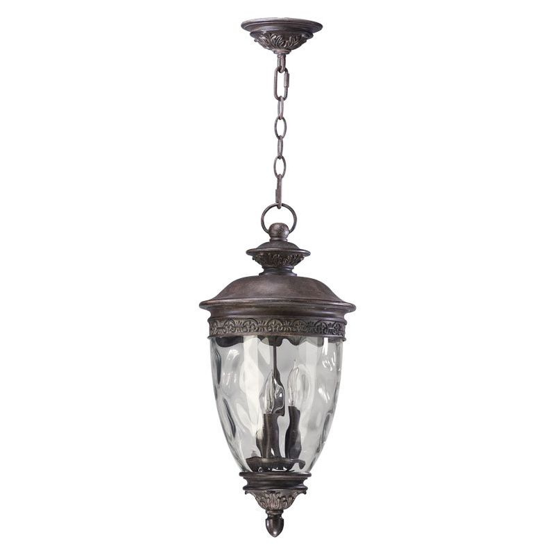 Quorum International Q7401-3 Georgia 3 Light Outdoor Pendant Etruscan