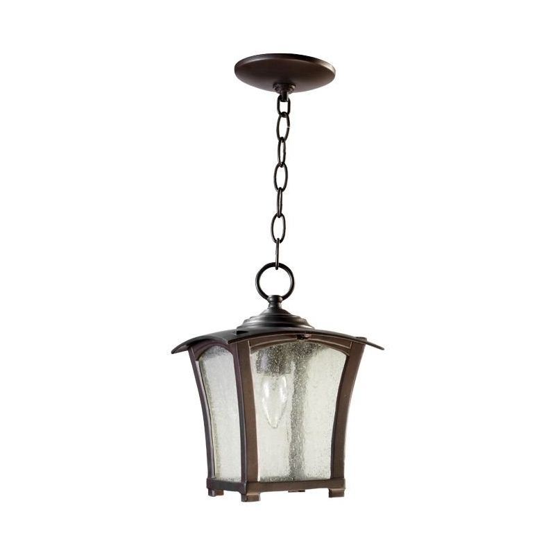 Quorum International 7511-8 Gable 1 Light Outdoor Pendant Oiled Bronze