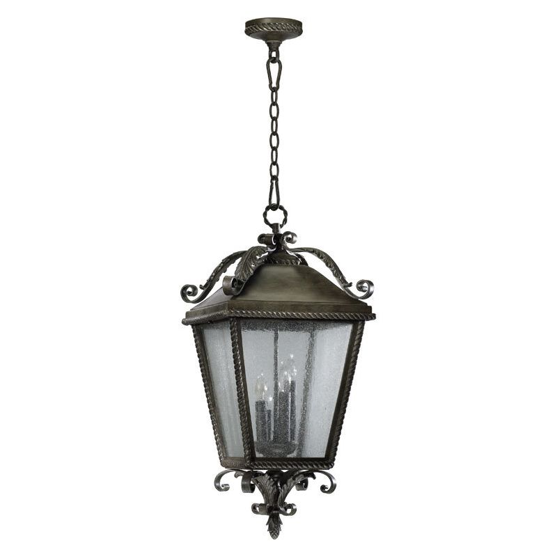 Quorum International 7911-4 Rochelle 4 Light Outdoor Pendant Etruscan