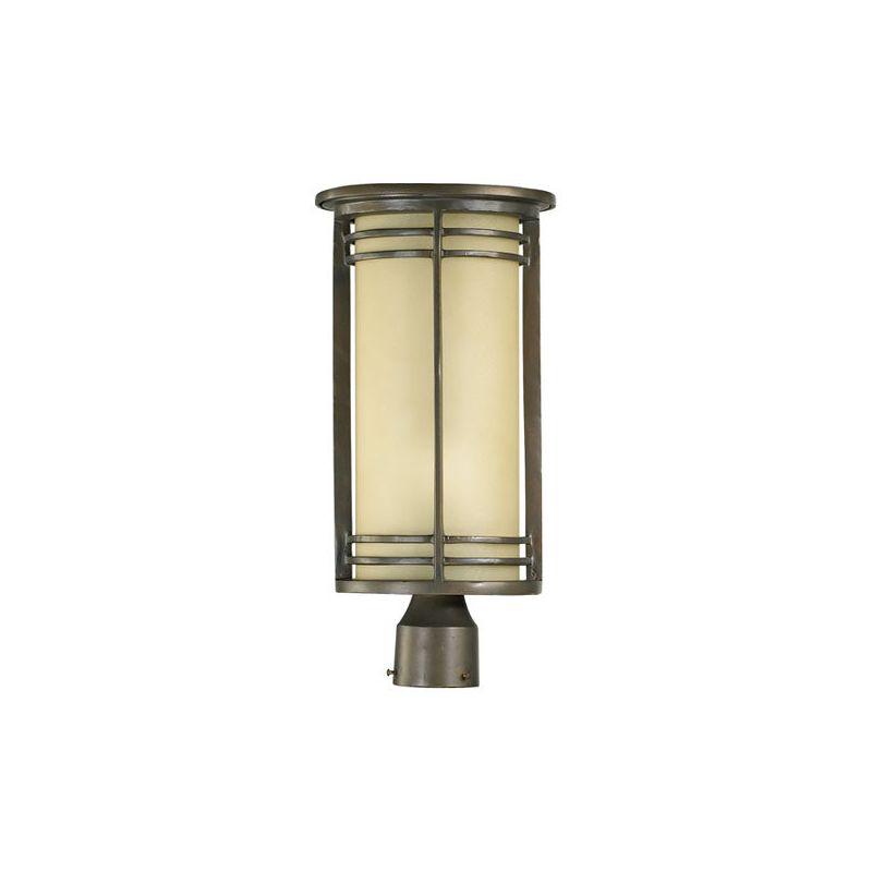 Quorum International 7918-9 Larson 1 Light Outdoor Post Light Oiled