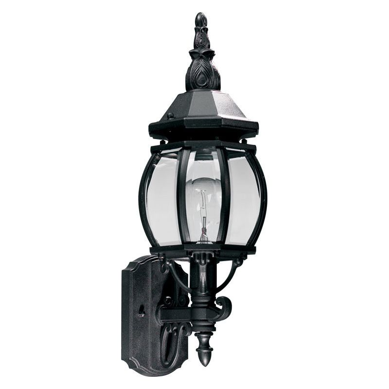 Quorum International Q7989-1 Croix 1 Light Outdoor Wall Sconce Black