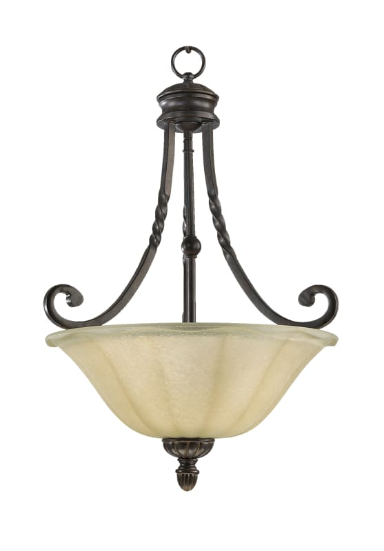 Quorum International 8078-3 Tribeca II 3 Light Full Sized Pendant