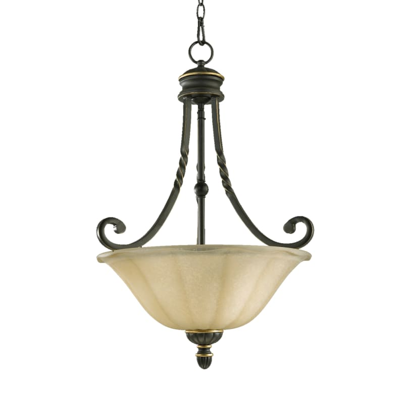 Quorum International 8078-3 Tribeca II 3 Light Full Sized Pendant Old