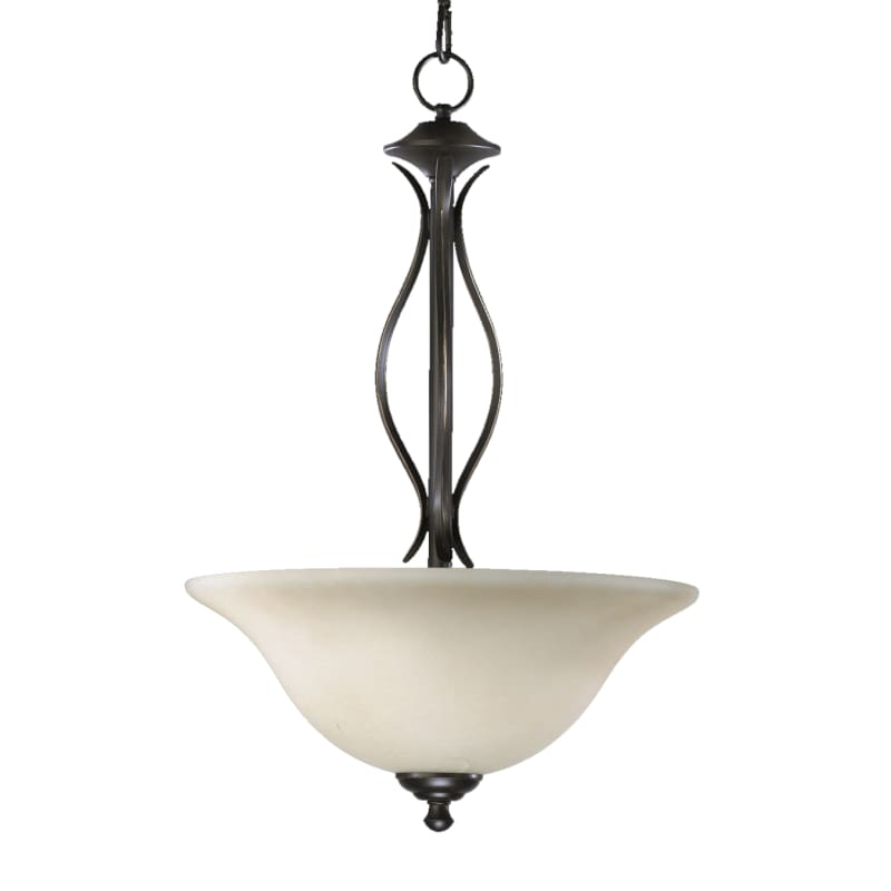 "Quorum International 8110-3 Spencer 16"" Wide 3 Light Pendant with"