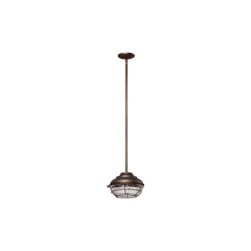 Quorum International 8374 Hudson 1 Light Outdoor Pendant Oiled Bronze