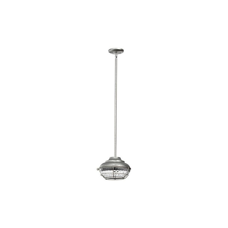Quorum International 8374 Hudson 1 Light Outdoor Pendant Galvanized Sale $173.00 ITEM: bci2008210 ID#:8374-9 :