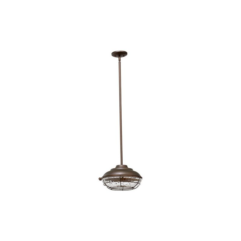 Quorum International 8375 Hudson 1 Light Outdoor Pendant Oiled Bronze