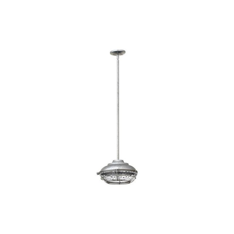 Quorum International 8375 Hudson 1 Light Outdoor Pendant Galvanized