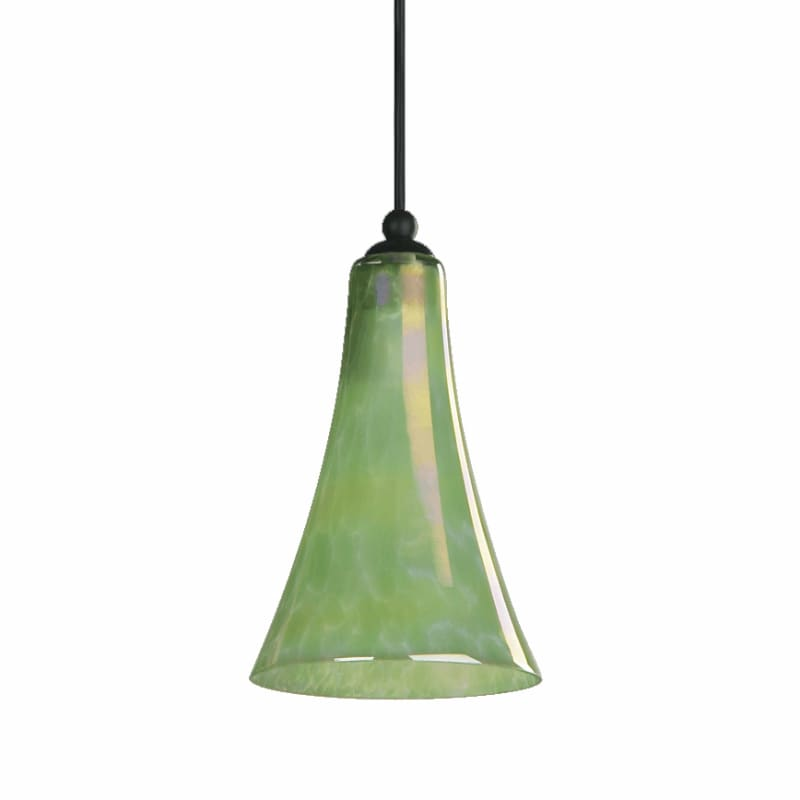 Quorum International Q866 1 Light Mini Pendant with Glass Bell Shade
