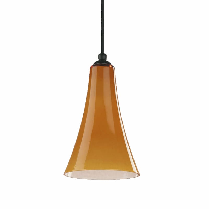 Quorum International Q867 1 Light Mini Pendant with Glass Bell Shade