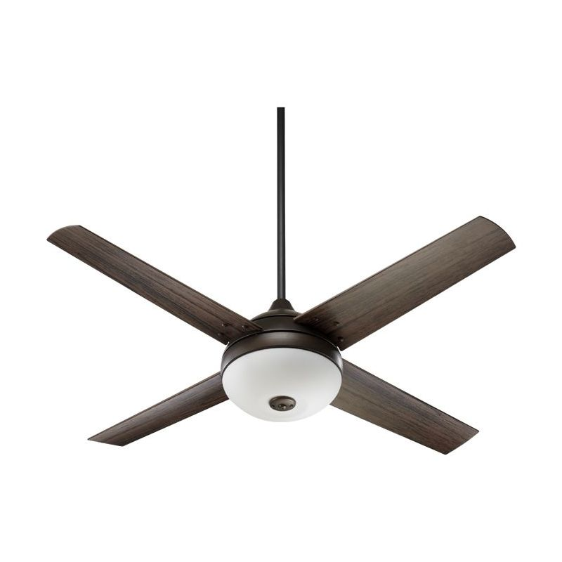 "Quorum International 18524 52"" 4 Blade Outdoor Patio Ceiling Fan with"