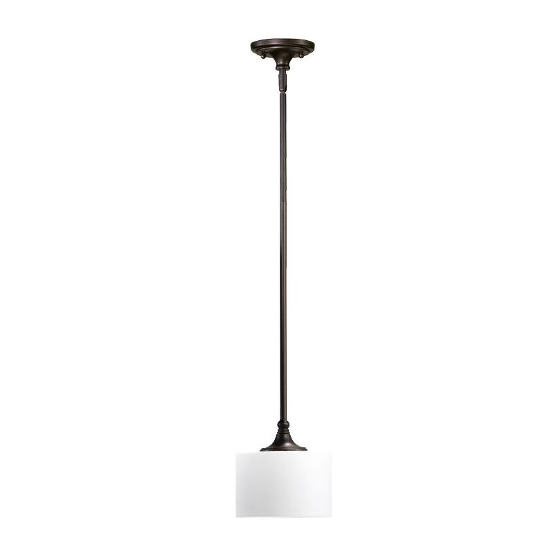 Quorum International 3090 Rockwood 1 Light Drum Pendant Oiled Bronze
