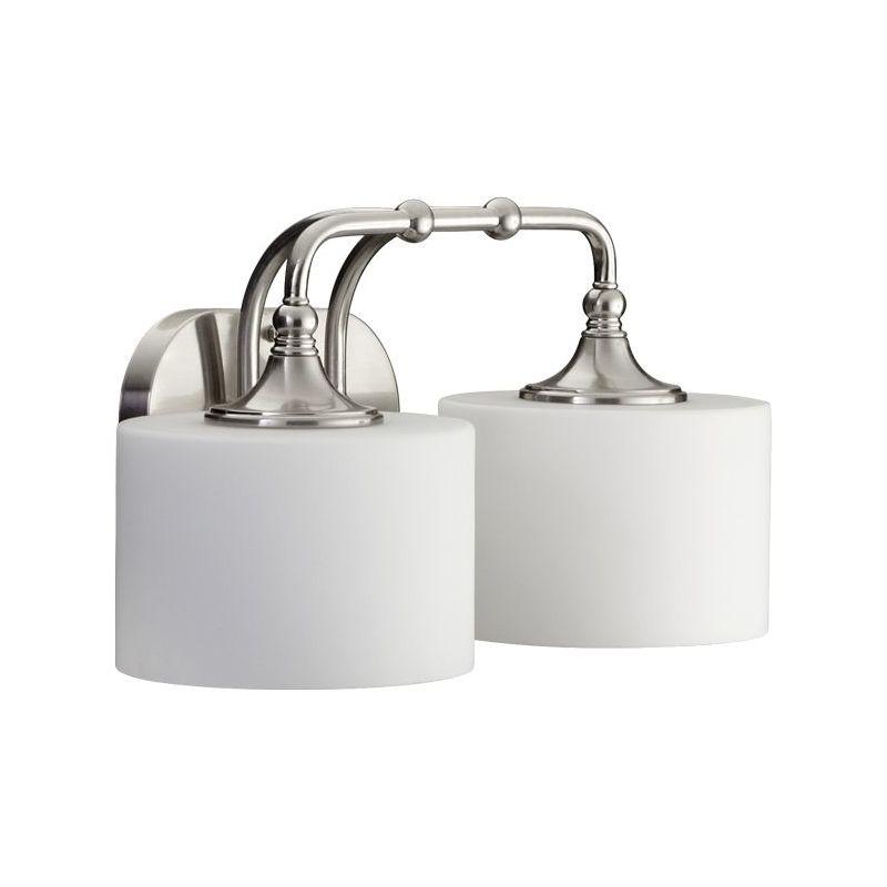 Vanity Light Upside Down : Quorum International 5090-2-65 Satin Nickel 2 Light Down Lighting Vanity Fixture from the ...